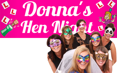 Personalised Hen Night Banners