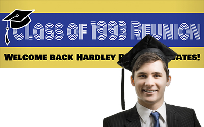 Personalised School Reunion Banners